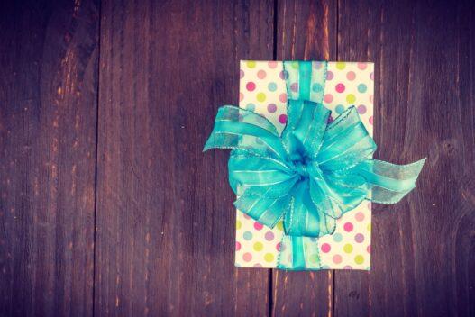 Personlige gaver bør også pakkes pænt ind - f.eks. som denne gave.